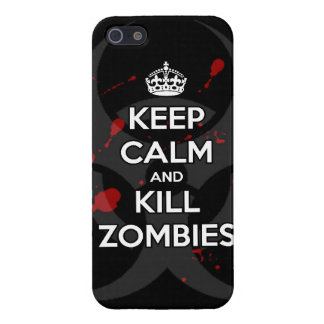 Keep Calm and kill zombie zombies wa iPhone 5/5S Case
