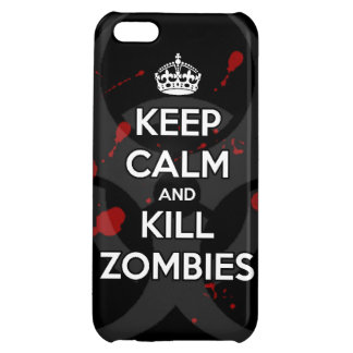Keep Calm and kill zombie zombies wa iPhone 5C Cases