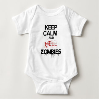 Keep Calm And Kill Zombies Baby Bodysuit