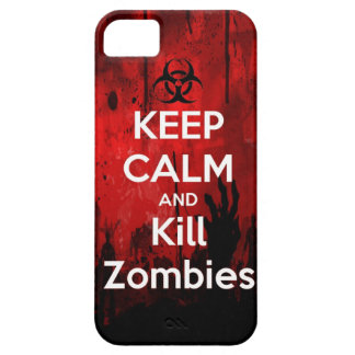 keep calm and kill zombies barely there iPhone 5 case