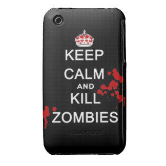 keep calm and kill zombies iPhone 3 Case-Mate cases