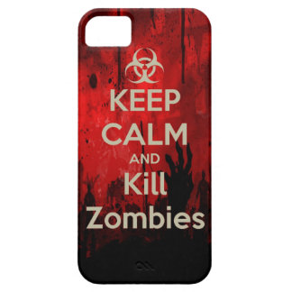 keep calm and kill zombies iPhone 5 cases