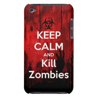keep calm and kill zombies Case-Mate iPod touch case