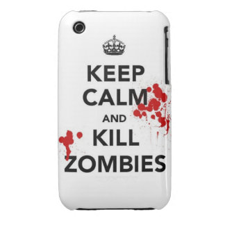 keep calm and kill zombies Case-Mate iPhone 3 case