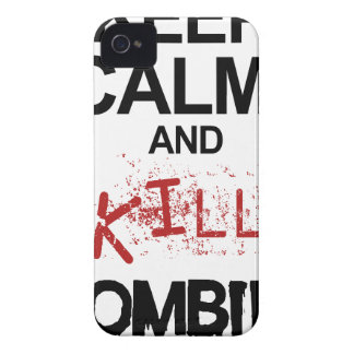 Keep Calm And Kill Zombies Case-Mate iPhone 4 Case