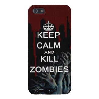 keep calm and kill zombies cover for iPhone 5/5S