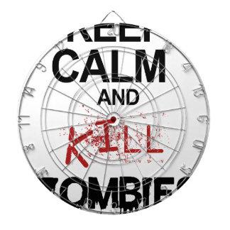 Keep Calm And Kill Zombies Dartboard