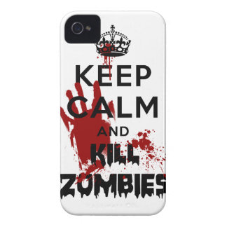 Keep Calm And Kill Zombies Funny Iphone 4S Case iPhone 4 Covers