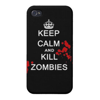 keep calm and kill zombies iPhone 4/4S cases