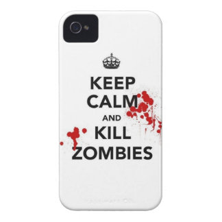 keep calm and kill zombies iPhone 4 Case-Mate case