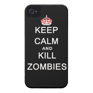 keep calm and kill zombies iPhone 4 Case-Mate cases