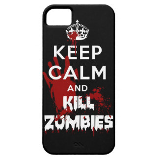 Keep Calm And Kill Zombies iPhone 5 Black Case Case For The iPhone 5