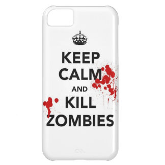 keep calm and kill zombies iPhone 5C case