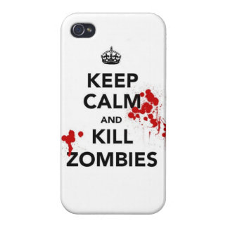 keep calm and kill zombies iPhone 4 cover