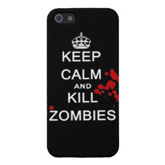 keep calm and kill zombies covers for iPhone 5
