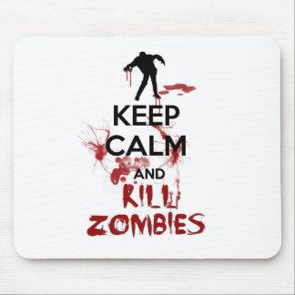 Keep Calm and Kill Zombies Mousepads