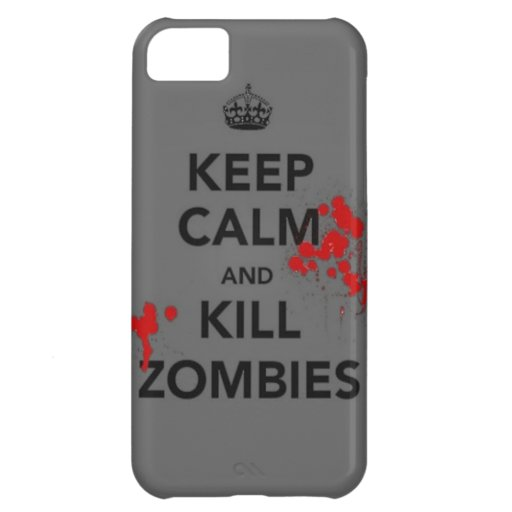 keep calm and kill zombies phone case iPhone 5C case