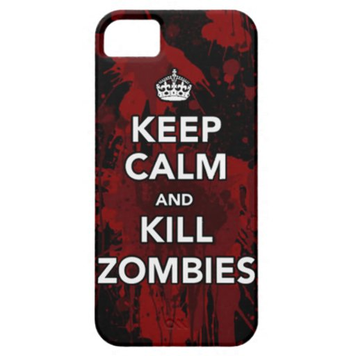 keep calm and kill zombies phone case cover for iPhone 5/5S