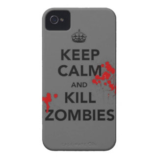 keep calm and kill zombies phone case Case-Mate iPhone 4 case
