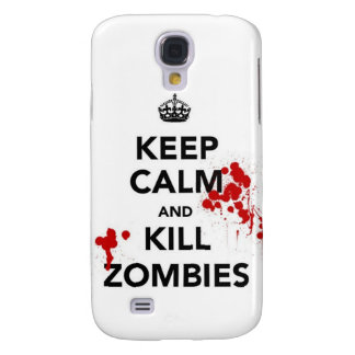 keep calm and kill zombies samsung galaxy s4 cover
