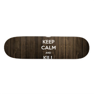 Keep calm and kill zombies skate boards