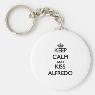 Keep Calm and Kiss Alfredo Key Chains