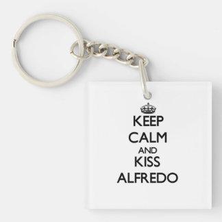 Keep Calm and Kiss Alfredo Acrylic Keychains