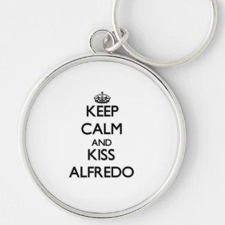 Keep Calm and Kiss Alfredo Keychain