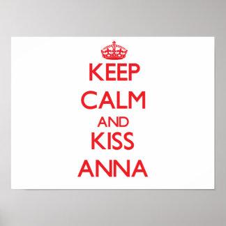 Keep Calm and Kiss Anna Print