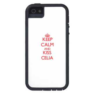 Keep Calm and kiss Celia iPhone 5 Cover
