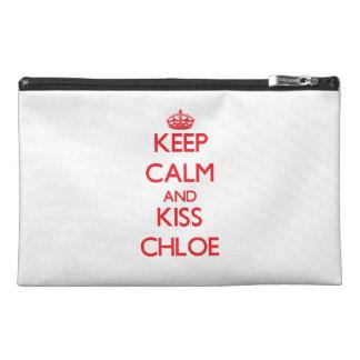 Keep Calm and kiss Chloe Travel Accessories Bags