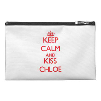 Keep Calm and kiss Chloe Travel Accessories Bags