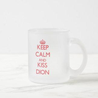Keep Calm and Kiss Dion Mugs