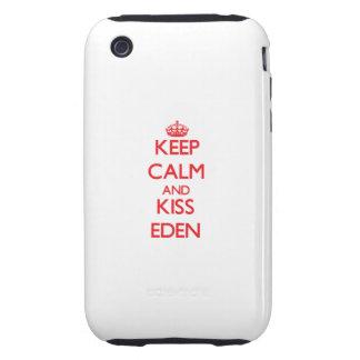 Keep Calm and Kiss Eden iPhone 3 Tough Cases