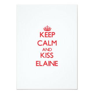 Keep Calm and Kiss Elaine 13 Cm X 18 Cm Invitation Card