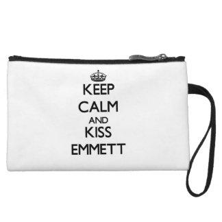 Keep Calm and Kiss Emmett Wristlet