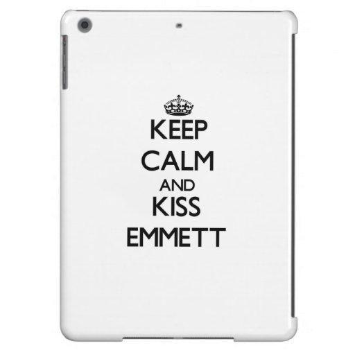 Keep Calm and Kiss Emmett iPad Air Cases