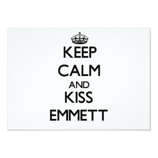 Keep Calm and Kiss Emmett Personalized Invites