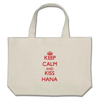 Keep Calm and kiss Hana Tote Bag