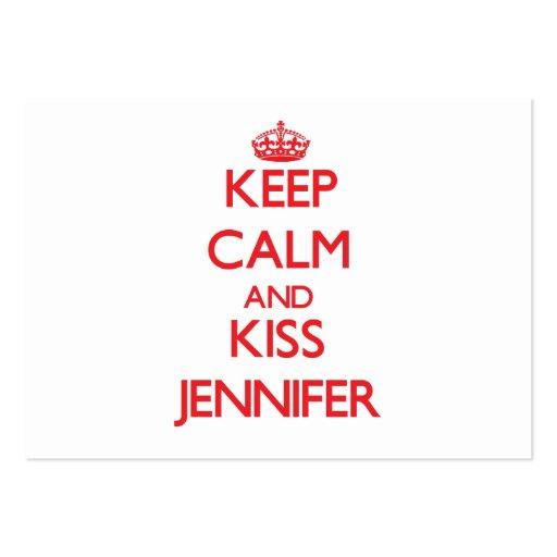 Keep Calm and kiss Jennifer Business Cards