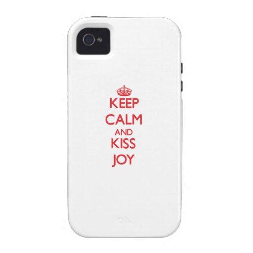 Keep Calm and kiss Joy iPhone 4 Cover