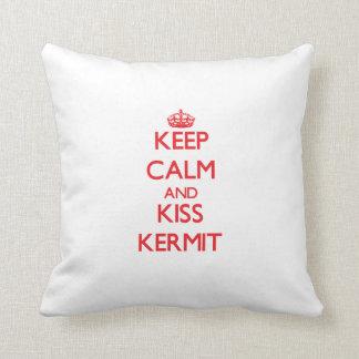 Keep Calm and Kiss Kermit Pillows