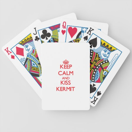Keep Calm and Kiss Kermit Poker Cards