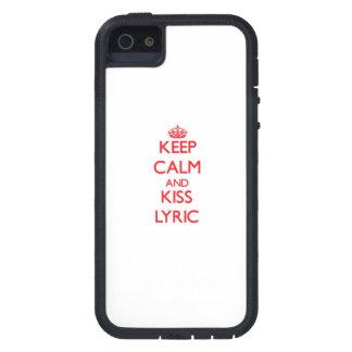 Keep Calm and Kiss Lyric iPhone 5 Cover