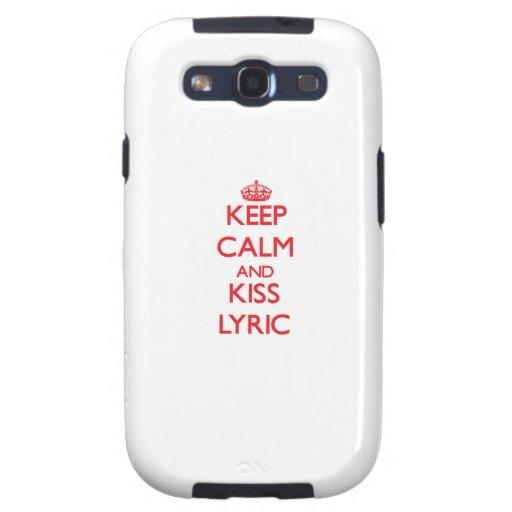 Keep Calm and Kiss Lyric Samsung Galaxy S3 Cover