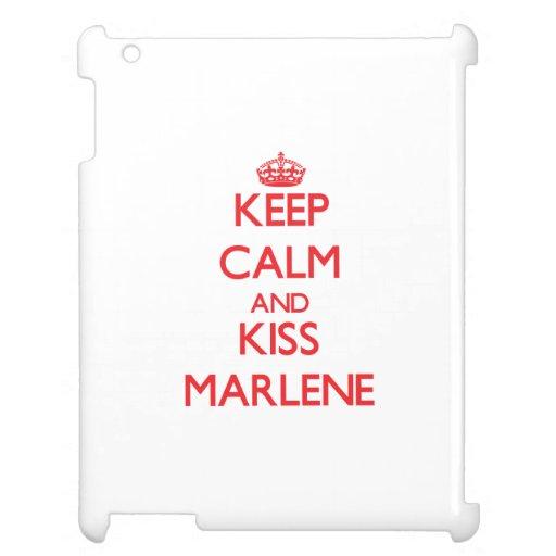 Keep Calm and Kiss Marlene iPad Cases