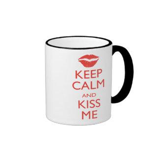 Keep Calm and Kiss Me Mug