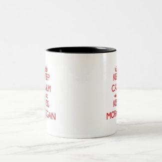 Keep Calm and Kiss Morgan Mug