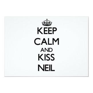 Keep Calm and Kiss Neil Custom Invitation