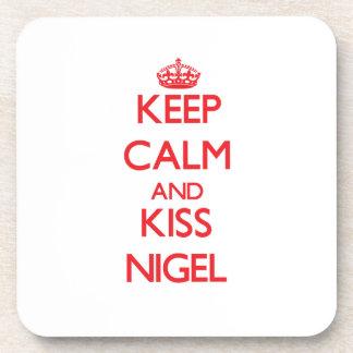 Keep Calm and Kiss Nigel Coasters